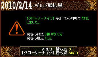 2/14†グローリーナイツ†戦