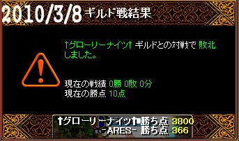 3/8†グローリーナイツ†戦