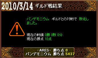 3/14パンデモニウム戦