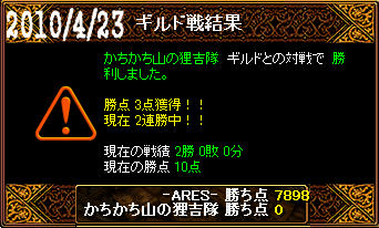 4/23かちかち山の狸吉隊戦