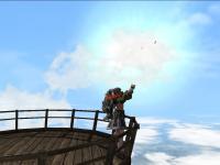 気球の上でパープー