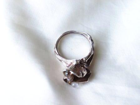 シリンジとダイクロガラスのリング