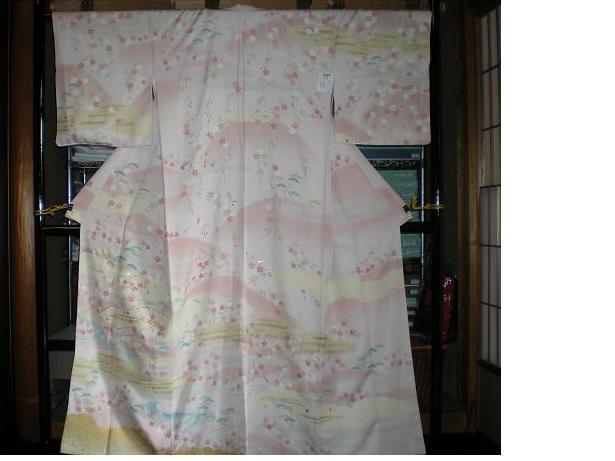 ピンク桜着物