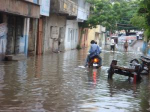 洪水です。
