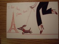 post card paris 0908