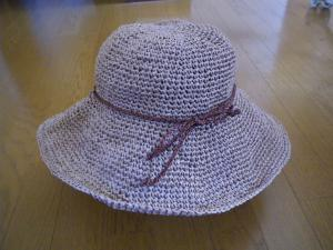 リボン付帽子(糸バージョン)