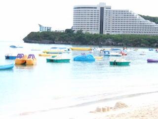 ボートレンタルが出来るビーチです