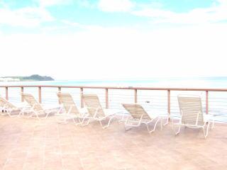 ホテル「アウトリガー」の海に面したバルコニー