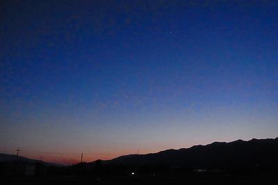 如月の快晴・日が落ちる
