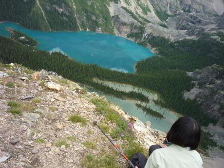 All Souls' Alpine Route から見下ろすレイク・オハラ