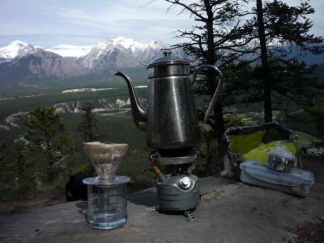 フェアホルム連山を望むコーヒーポット