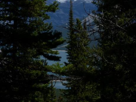 ミネワンカ湖 from Cレベルサークトレイル