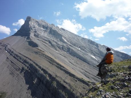 グラッシー山のピークから望むビッグシスター