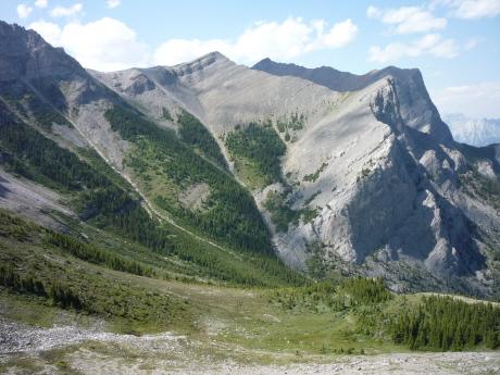 ローレンス・グラッシー山のベイスン(盆地)