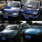 青い車その1