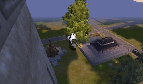 城北 大きな城壁(?)の上の中