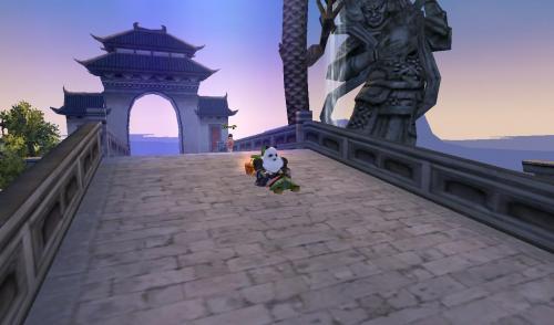 城中央 上の橋を外から