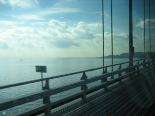 明石大橋:橋の上