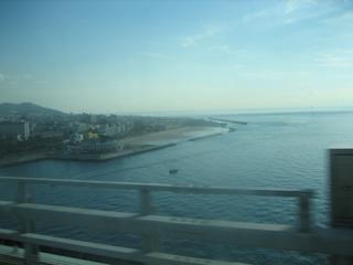明石大橋:神戸が見えます