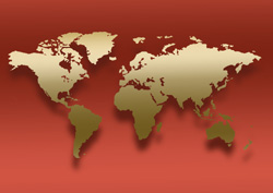 西洋中心の世界地図