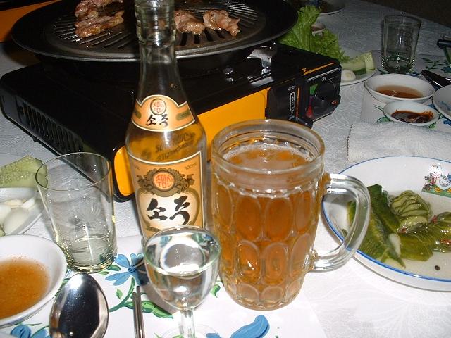 生ビールと焼酎