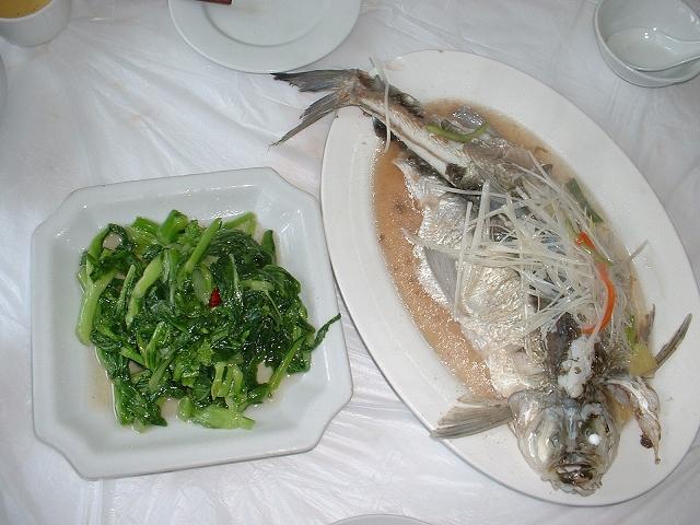 菜莧と白糸魚