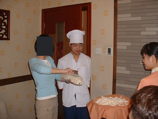 刀削麺成功