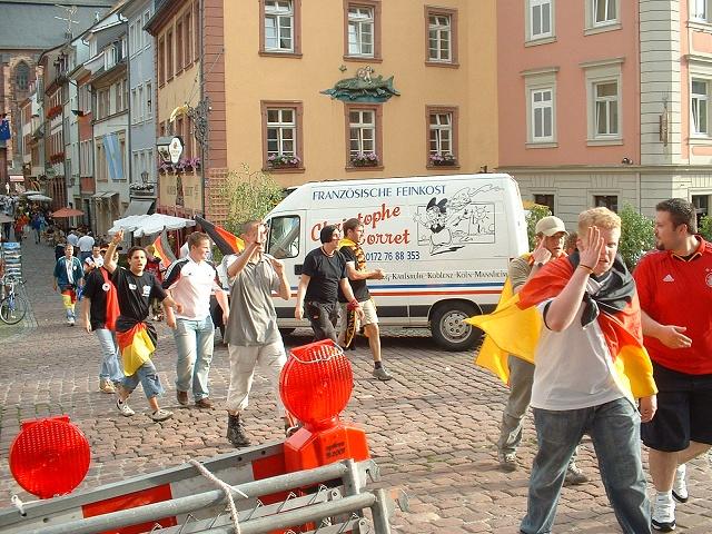 ハイデルベルクのドイツファン