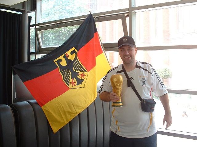 カフェのドイツファン1
