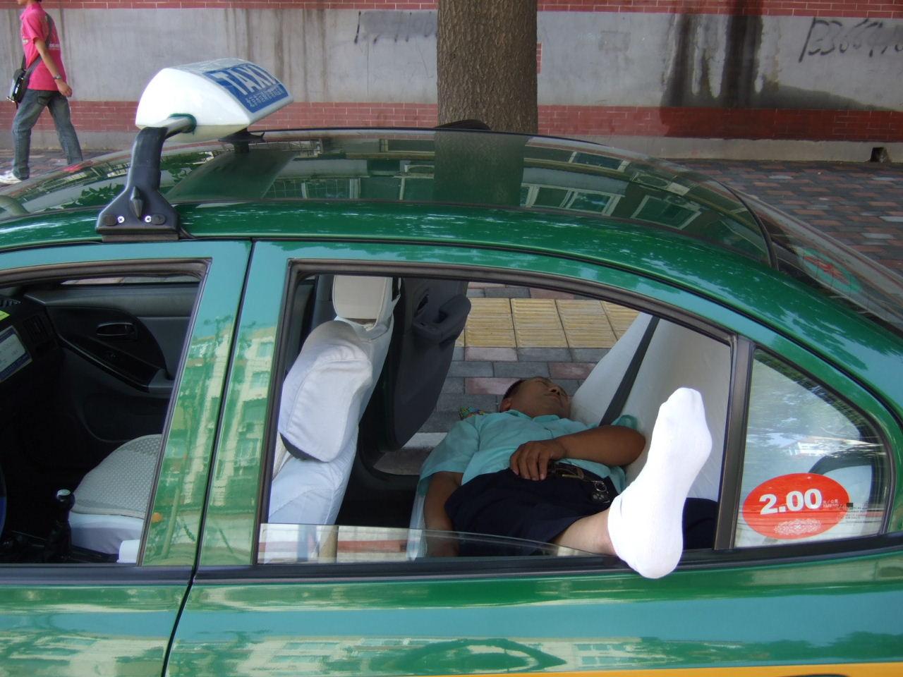 先農壇タクシー昼寝
