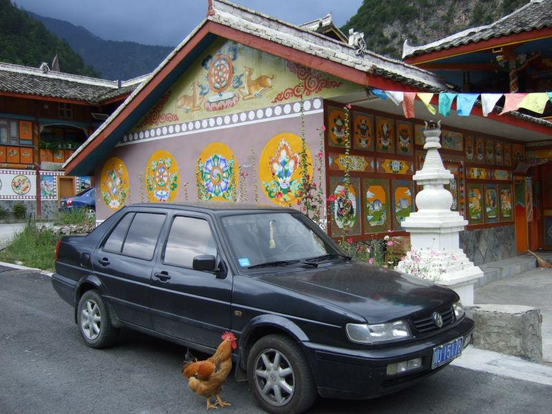 荷葉寨の鶏