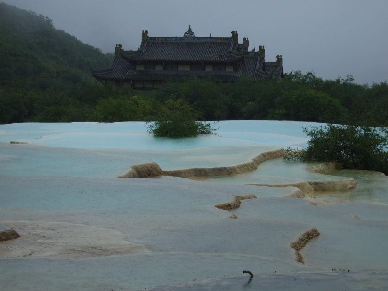 353黄龍五彩池と寺