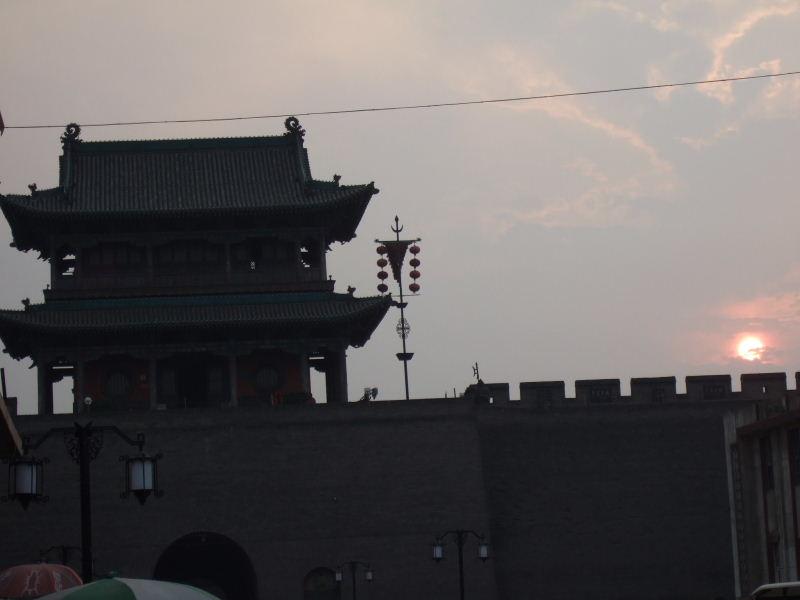 221西城楼の日没