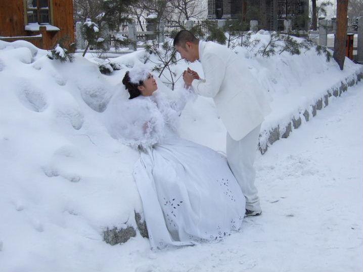 吉林教会結婚写真
