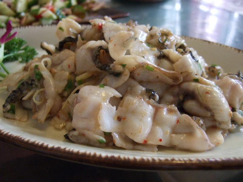 08烏魚三吃(爆炒魚片)料理