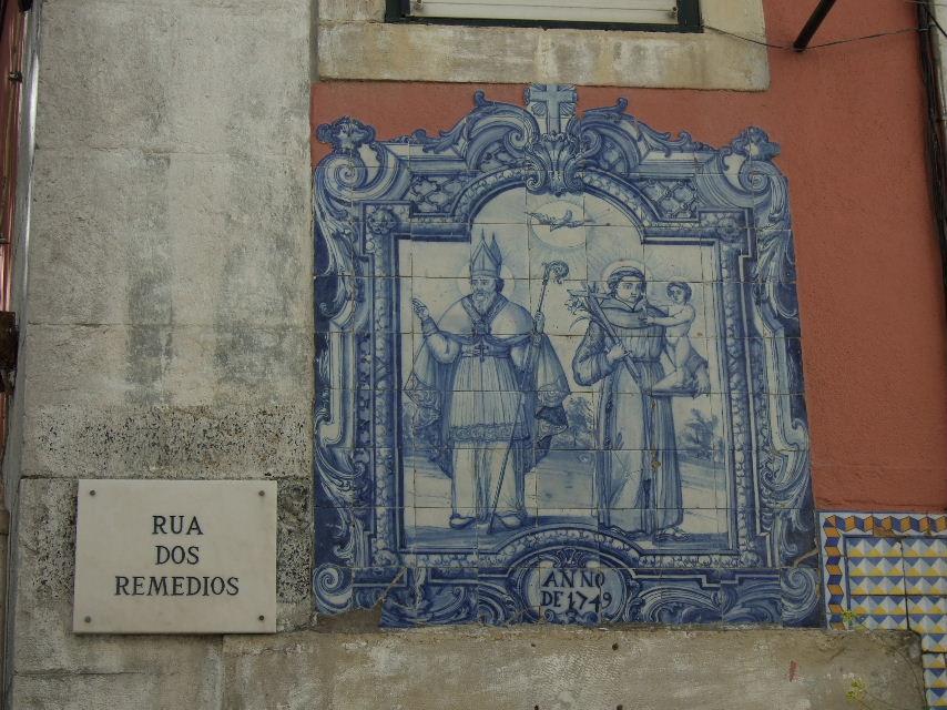 116Lisboaアルファマ標識とアズレージョ