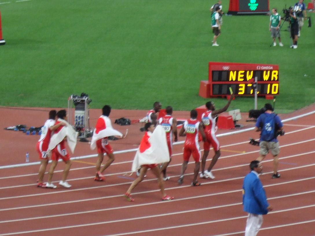 127男4x100m日本、トリニダード・トバゴ