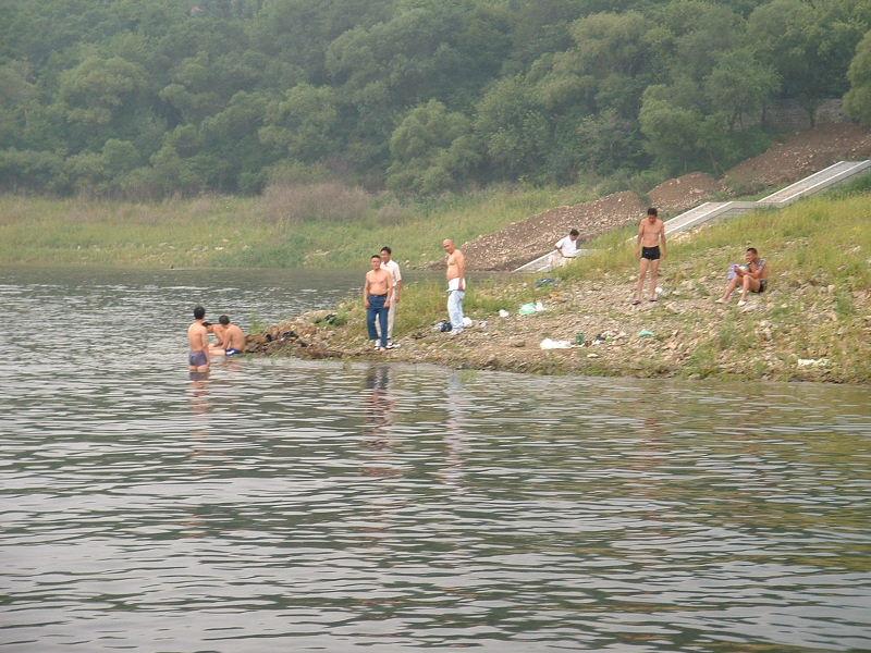 豊満ダム水泳