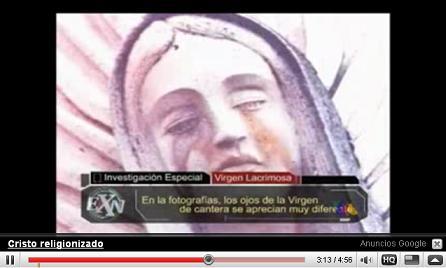 YouTubeより、「涙を流し続けるマリア像」