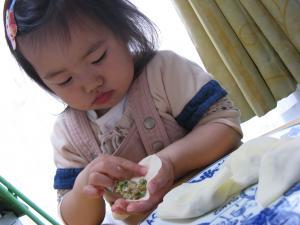 姫の餃子作り10