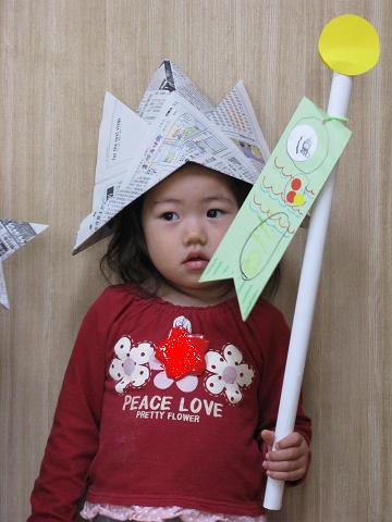 手作り兜と鯉のぼり1