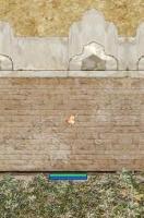 壁に埋まる