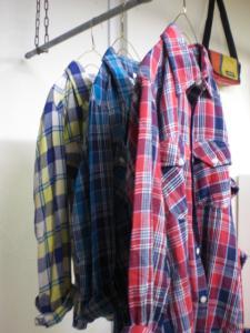ガーゼチェックシャツ