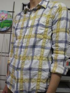 オンブレチェック スパン L/S シャツ