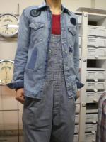 ブルーパッチリメイクウエスタンシャツ