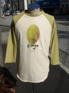 グリーンラグランTシャツ