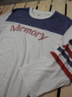memory フットボールハーフスリーブTEE