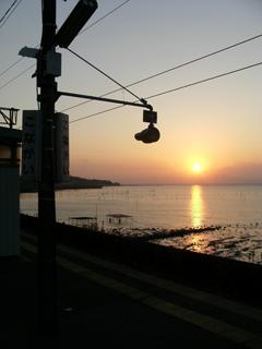 小長井駅ホーム