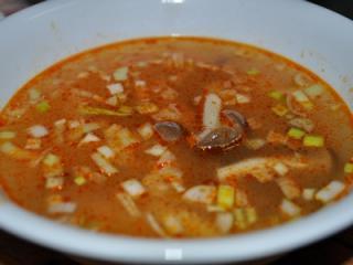 しめじとハムのスープ