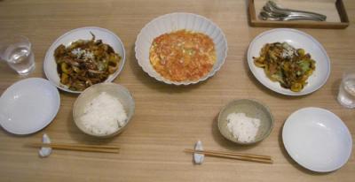 えびちりと回鍋肉 2008.9.13